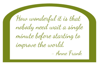 Anne Frank quote- Outdoor On-Site Wedding Catering Done by Simply Fresh Events in Maryland