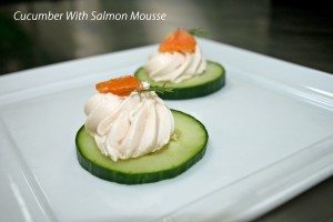 Cucumber and salmon mousse 2