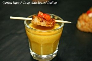 Curried Squash Soup With Scallop
