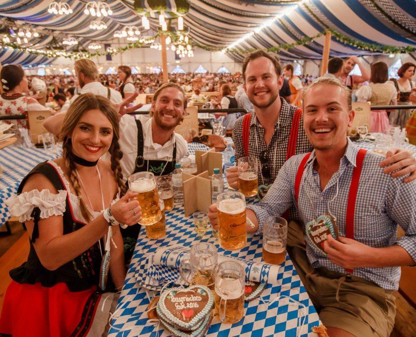 german oktoberfest tables
