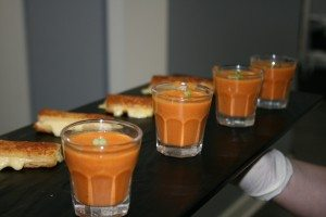 tomato soup shooters w gr ch dipp