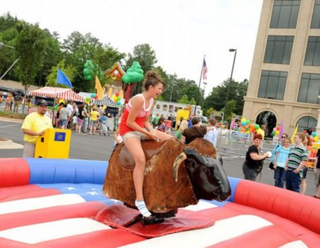 inflatable bull riding